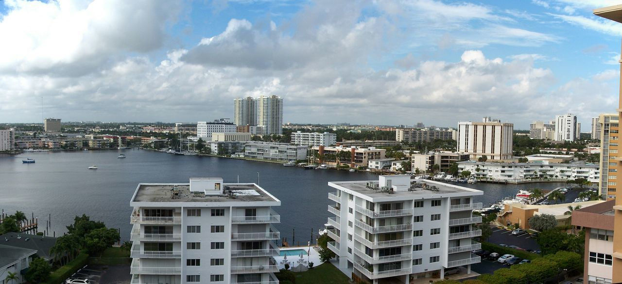 Hallandale Bch, FLorida From The Rooftop Hello World Enjoying Life Nature Photography Natural Beauty Water_collection Oceanview Sky And Clouds Skyscape Hallandale Beach