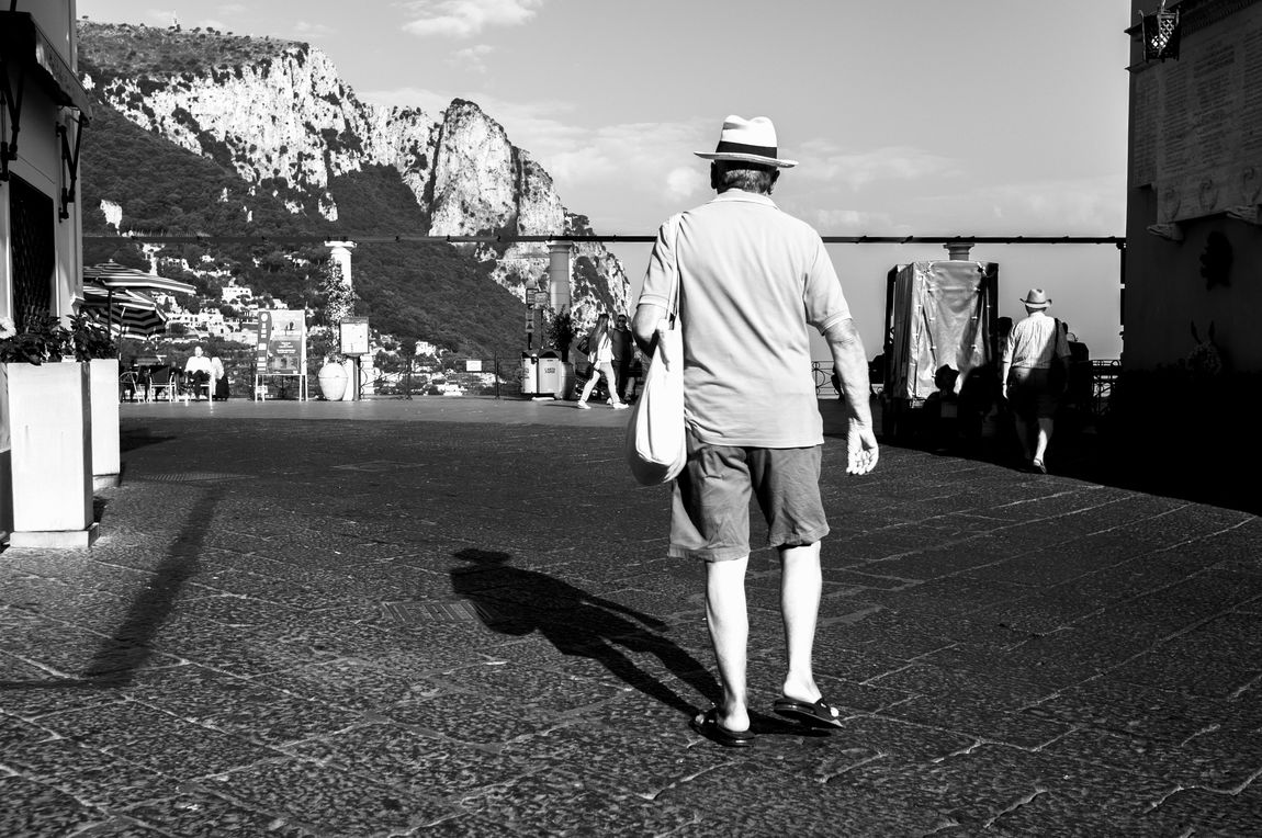 8:48 am Buongiorno Capri Capri Capri, Italy Rear View Real People Men Sky Day One Person Outdoors Building Exterior Built Structure Women Architecture People Street Lifestyle Urban Earlybird Shadows & Lights Black & White Travel Photography Black And White Photography FujiFilm X100 Fujifilm_xseries Miles Away Long Goodbye TCPM The Street Photographer - 2017 EyeEm Awards The Street Photographer - 2017 EyeEm Awards