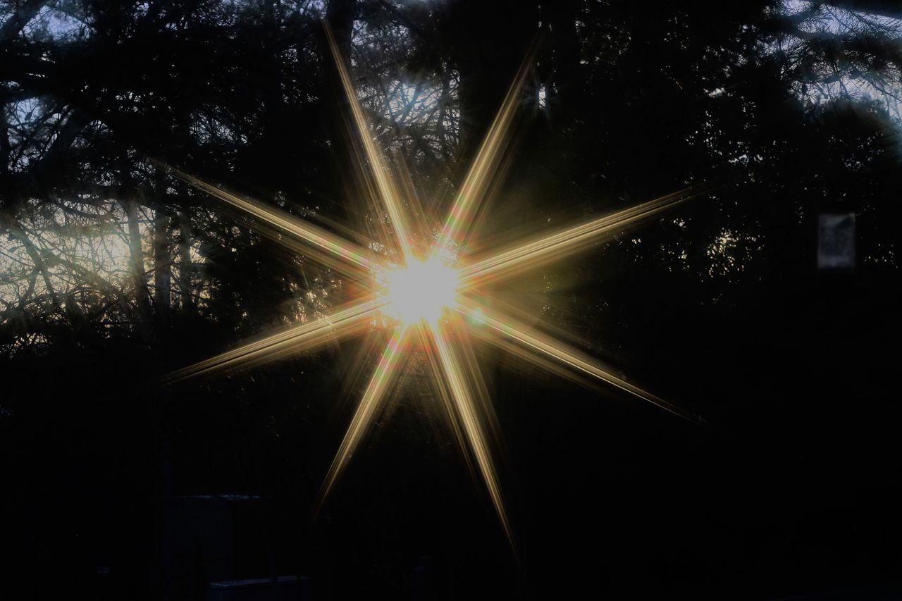 Beauty In Nature Illuminated Lens Flare Nature No People Outdoors Sunbeam