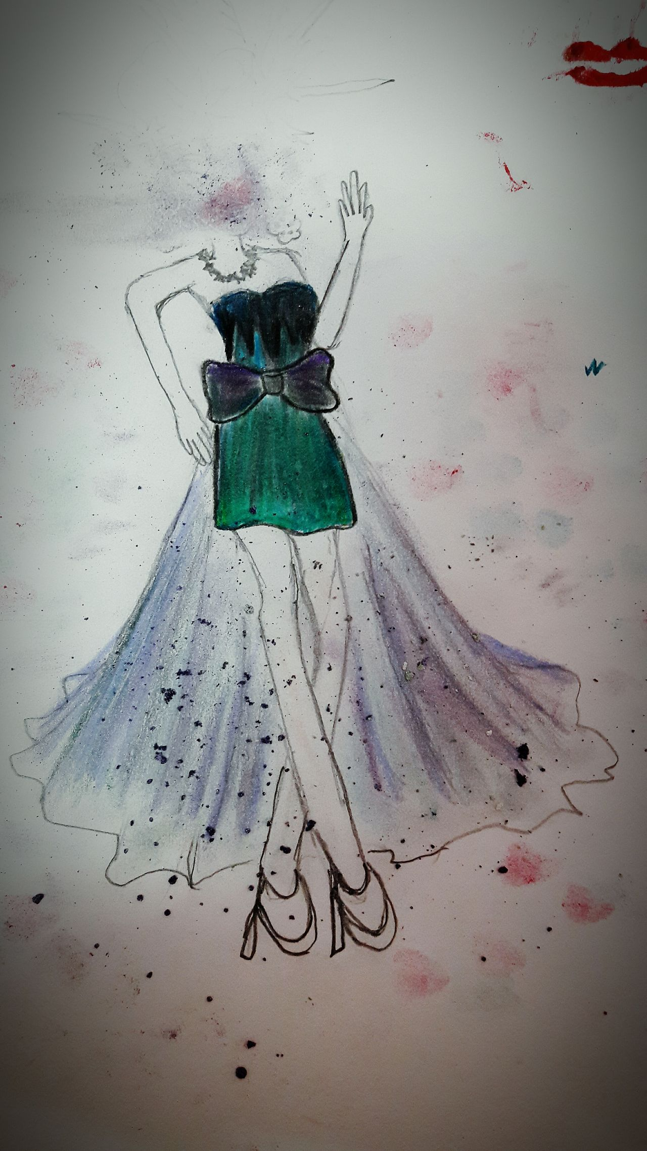 Nobody perfect Fashion Design Drawn Dreamsinderelladesign Green Color Day Concrete Nature Outdoors Carefree Weathered Galaxy Starlight Galaxydress Mydesign