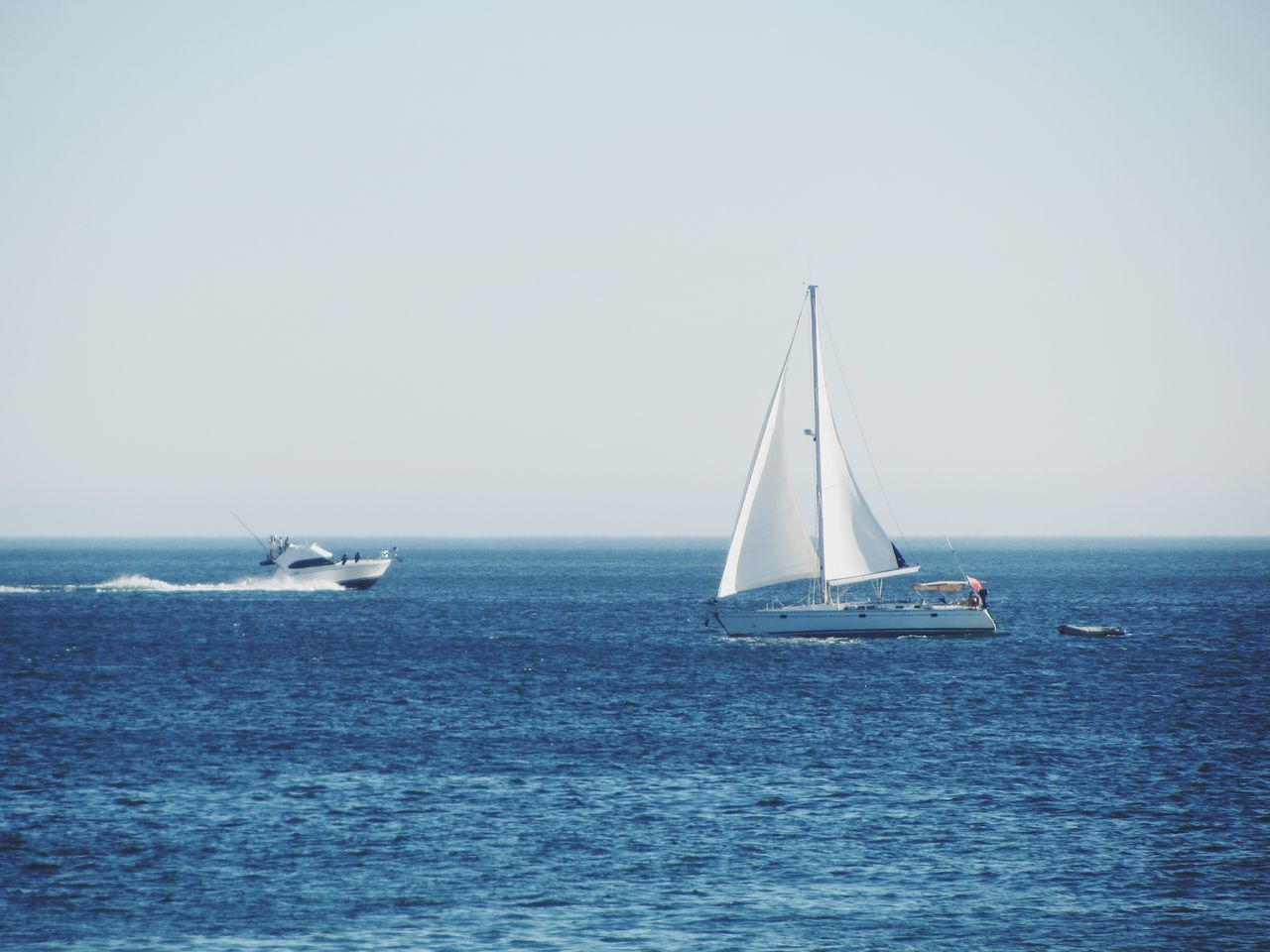 Sailboat Sea Nautical Vessel Sailing Horizon Over Water Sailing Ship Blue Transportation Outdoors Summer Day Sky Water No People Yacht Regatta Mast Nature Clear Sky Tall Ship Sea And Sky