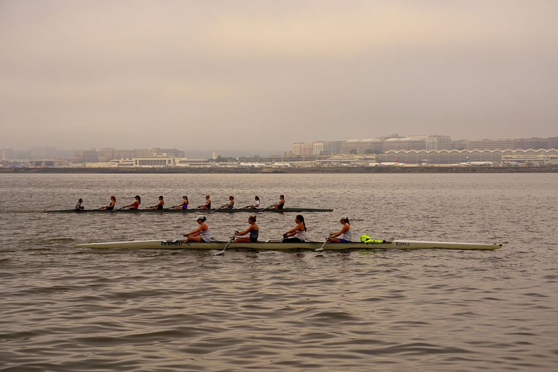 The lineup Rowing Rows Of Things Rowers Ladies On The River River Riverside Potomac River Washington DC Untold Stories
