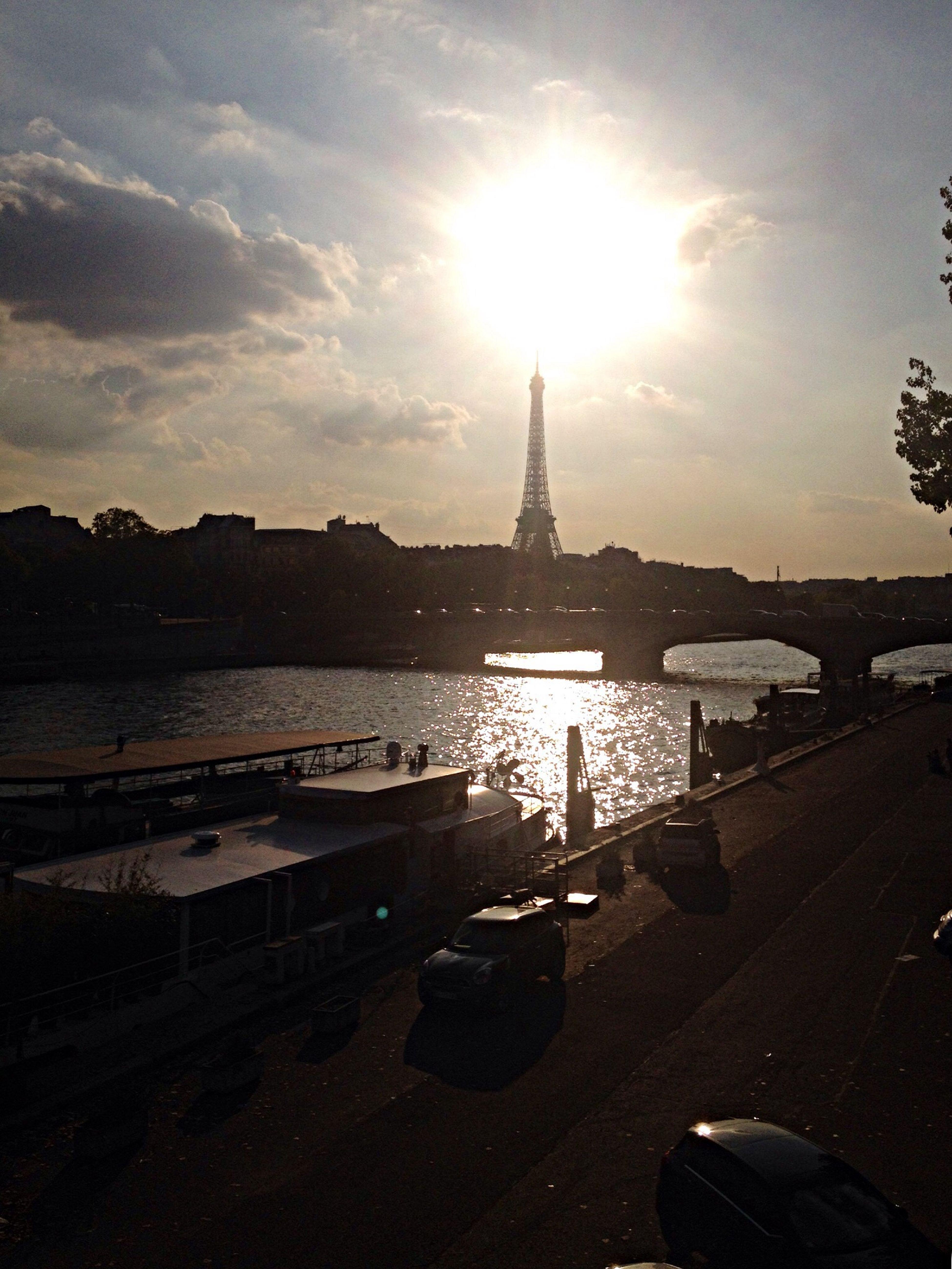 Tour Eiffel Automne Lovely Paris Fall Seine Sunset