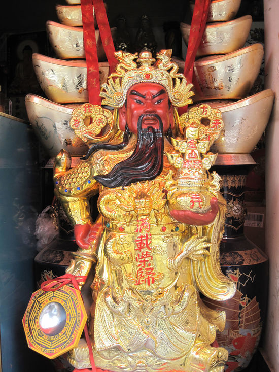 Art And Craft China Close-up Daoism God Of Wealth Indoors  Night No People Religion Sculpture Spirituality Statue