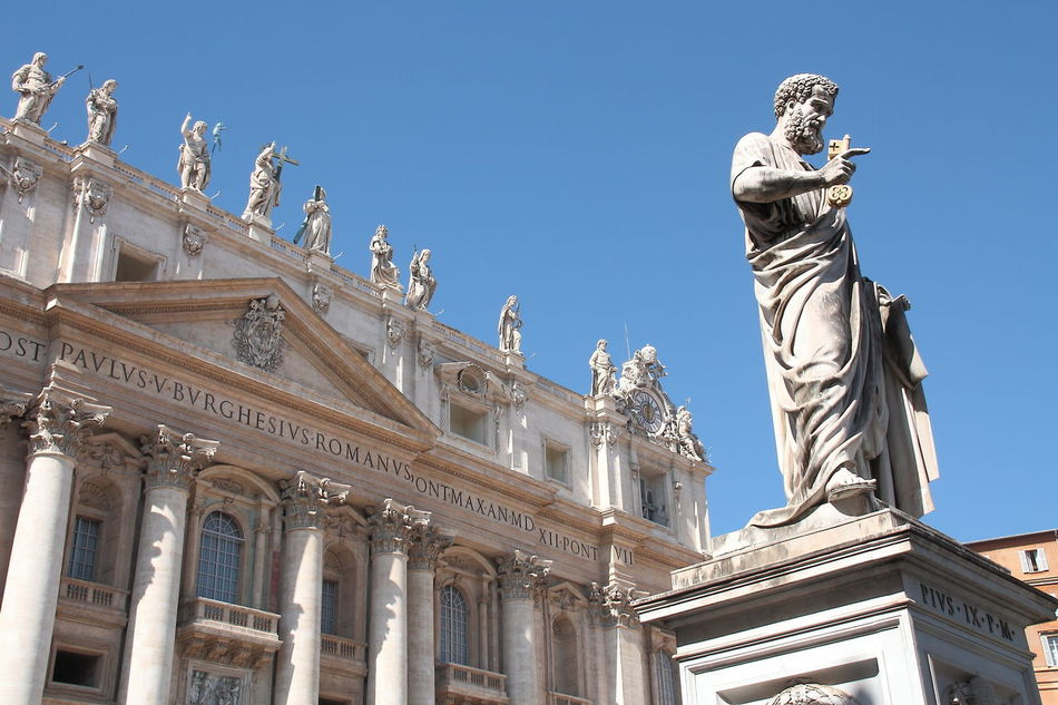 The Vatican and all that stuff Architecture Art And Craft Blue City City Break Clear Sky Day History Human Representation Italia Italy No People Outdoors Religion Religion And Beliefs Religions Roma Rome Sculpture Sky Statue The Vatican Tourism Travel Travel Destinations