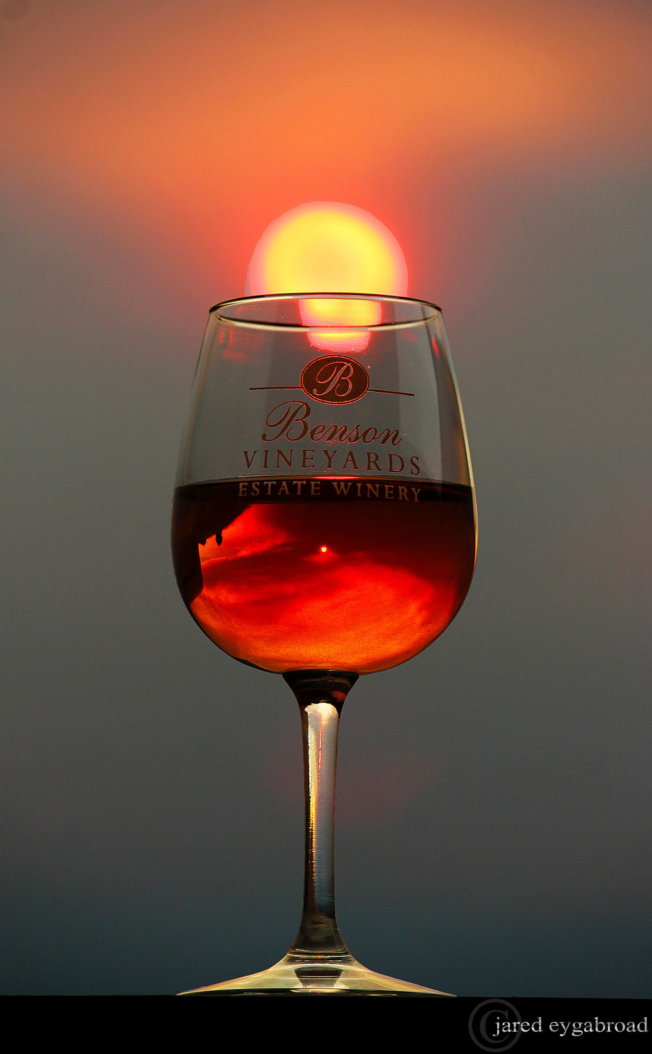Sunsets Wine Vanishing Point Light Up Your Life Sunset Collection Ros'e at sunset. Glitch Winery Wine Moments