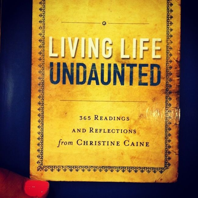 So excited! If you haven't read her book Undaunted it is a must read! Can't wait to dig into the new devotional! Christinecaine