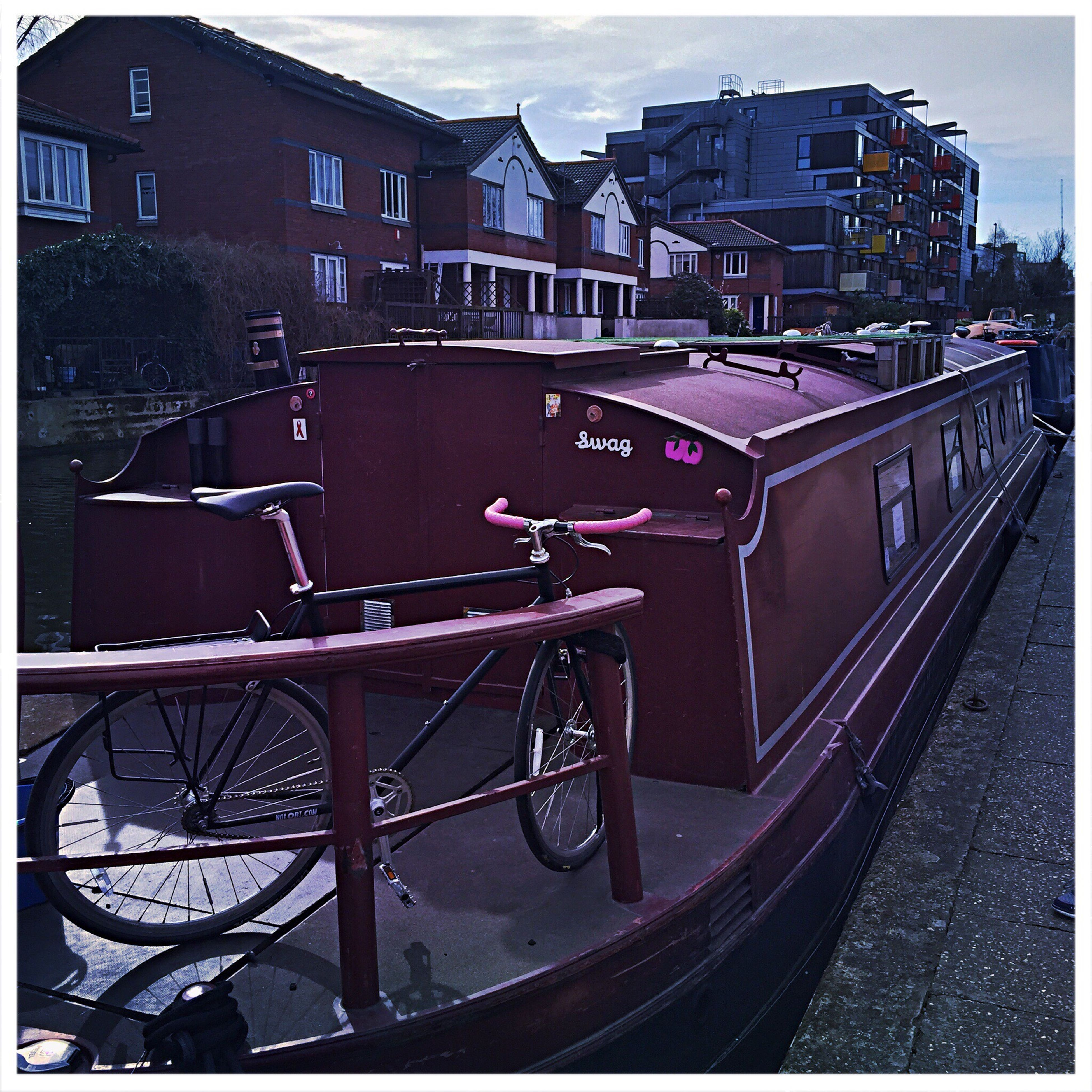 Canal Water Purple Bicycle First Eyeem Photo Millennial Pink