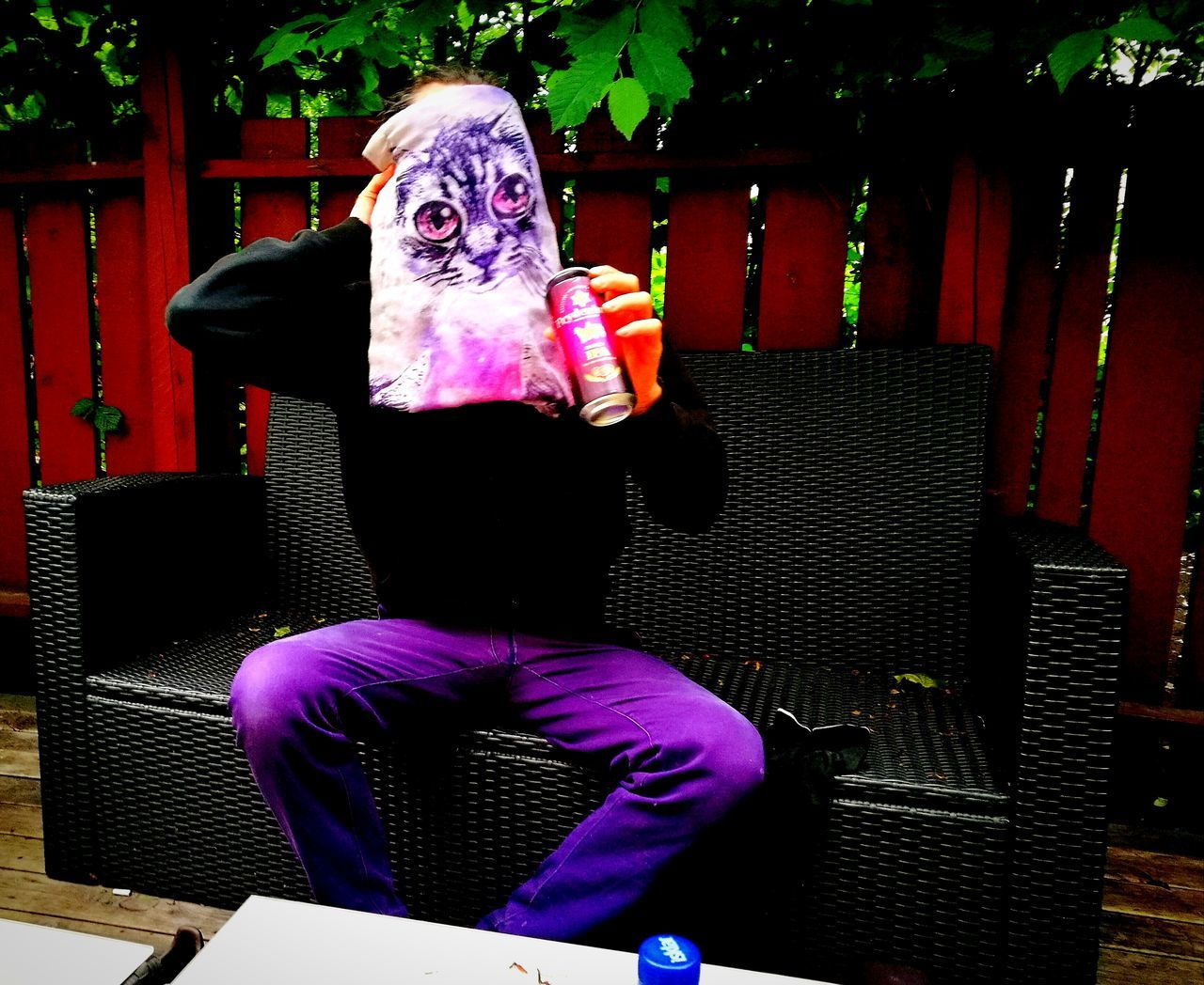 The Street Photographer - 2017 EyeEm Awards Purple Rear View One Person Backyardphotography Oslo Norway Cat Scarf Urban Life Norway🇳🇴 Mask - Disguise Masked Masked Portrait Streetphotography Random Seat ByTheWay Inpro