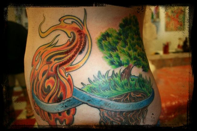 Fire Tree Ink Tattoo In Loving Memory. Forever Inked