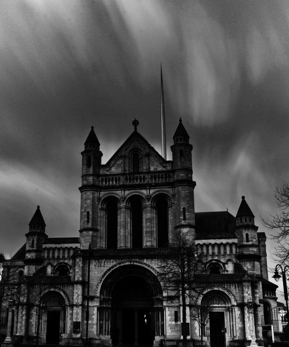 St Anne's Cathedral Arch Architecture Blackandwhite Building Exterior Built Structure Church Cloud - Sky Day Long Exposure Longexposure Low Angle View Nikon No People Outdoors Sky