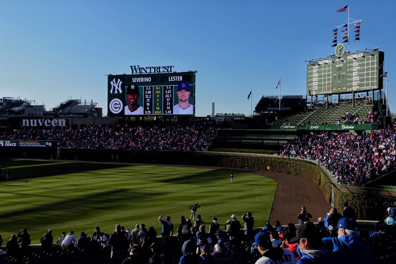 At the Friendly Confines! Chicago Cubs  Baseball