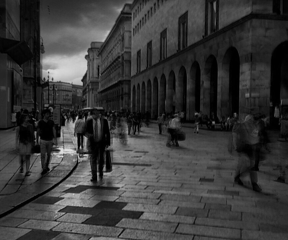 Ordinary day in Milan | taken with iPhone 5S SlowShutter camera | edited with Snapseed//DramaticB&W//Gilterstorm neue apps Youmobile AMPt_community OpenEdit Notes From The Underground IPhoneography Streetphotography Blackandwhite Black & White The Street Photographer - 2015 EyeEm Awards