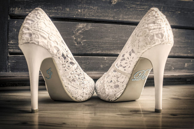 Bride Shoes Happiness ♡ I Do Love ♥ No People Two Objects Wedding Wedding Day