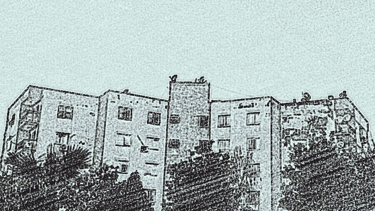 Empress Building Urban Geometry Drawing Buildings & Sky