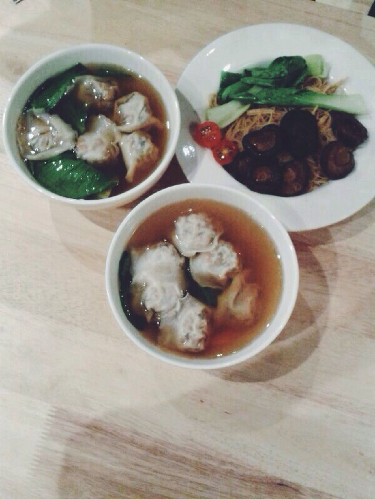Fearfoodfriday: Real Food mushroom noodle and dumpling soup