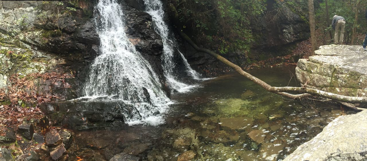 waterfall, motion, rock - object, water, nature, beauty in nature, no people, day, outdoors, long exposure, scenics, forest, tree, power in nature