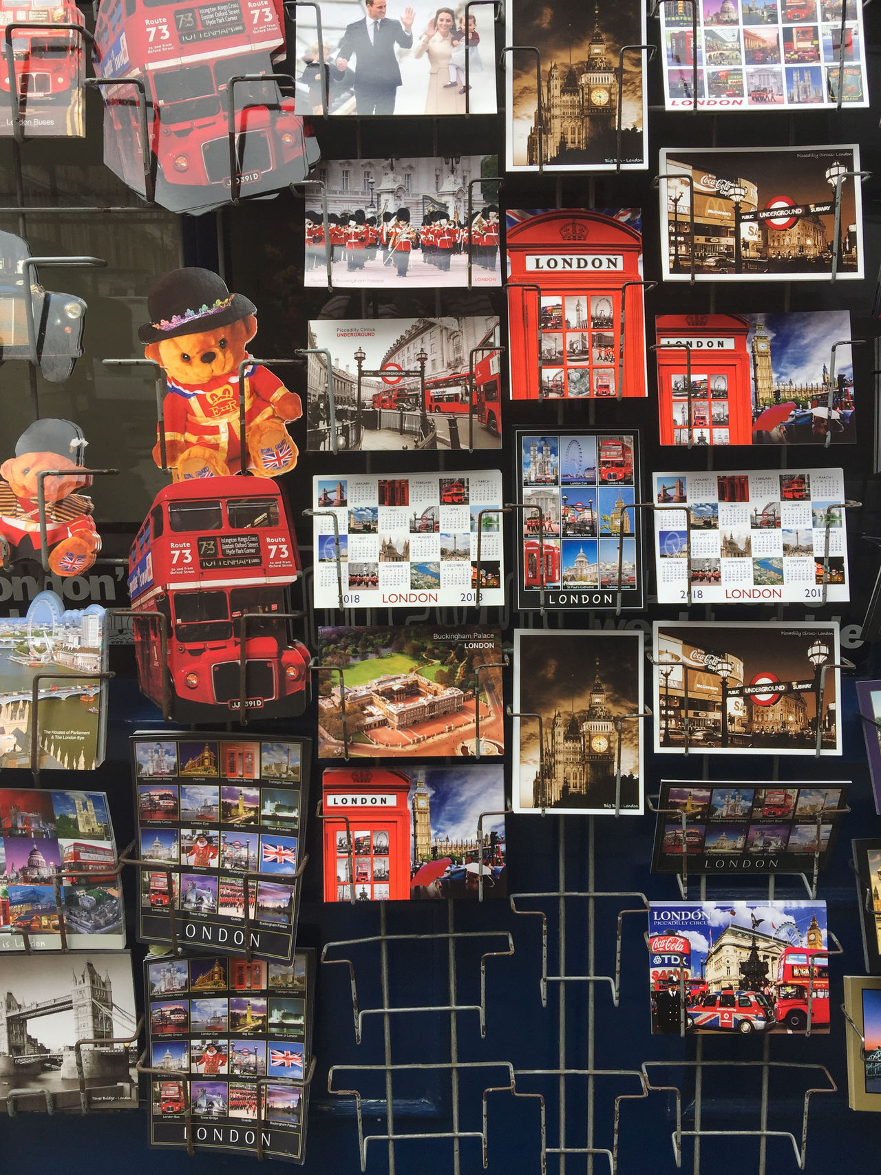 Rack of London souvenir postcards for sale. London Postcard Bus Choice Collection Consumerism Day Display Editorial  For Sale Large Group Of Objects Mail No People Phonebooth Phonebox Retail  Souvenir Tourism Variation