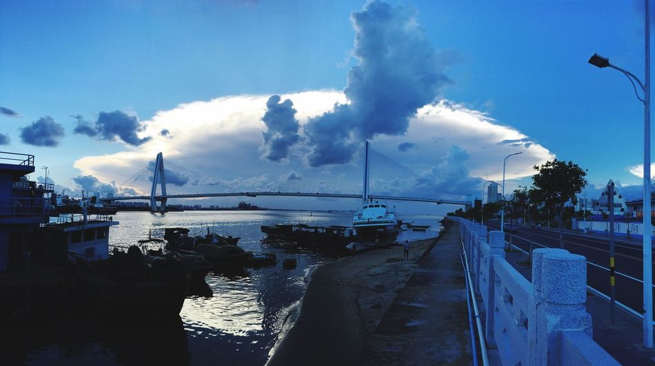 Sky Nautical Vessel Cloud - Sky Water Transportation Mode Of Transport Sea Outdoors No People Architecture Built Structure Moored Day Nature Blue Tree Mast Harbor Beauty In Nature Building Exterior EyeEmNewHere
