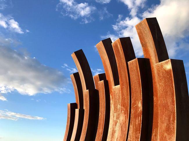 Sculpture Rusty English Bay Vancouver BC Canada