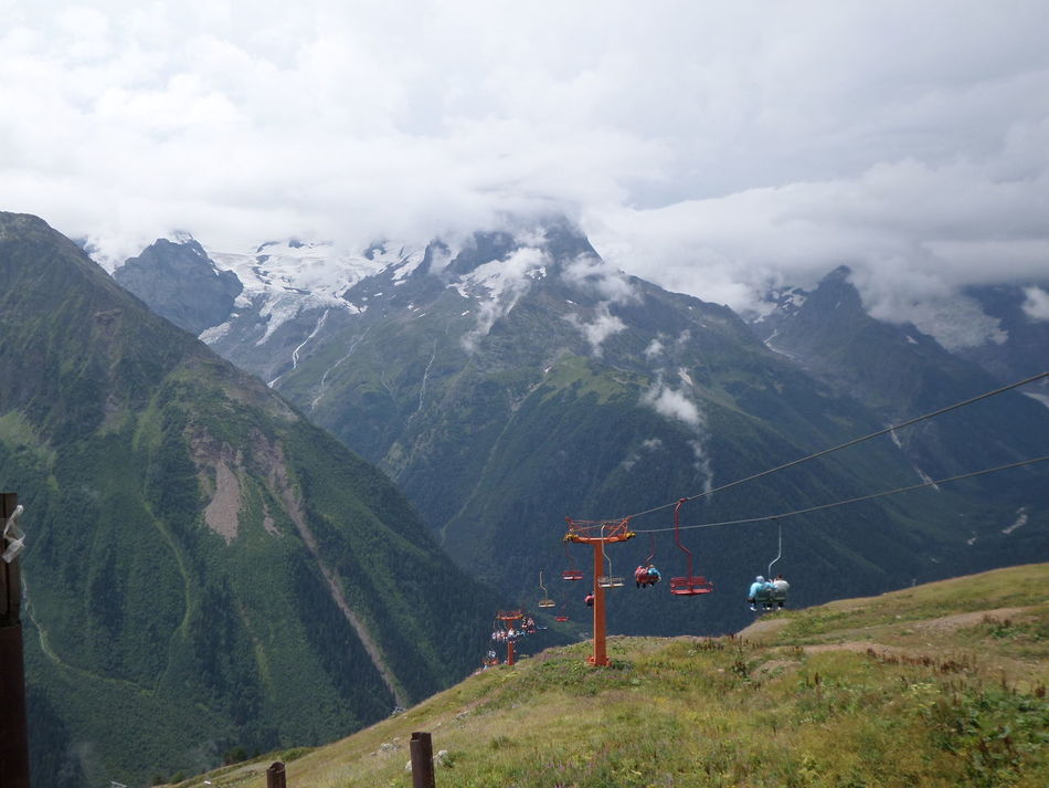 КавказскийХребет Caucasian Mountains Mountain Mountain Peak Mountain Range Non-urban Scene Outdoors Scenics Dombai домбай