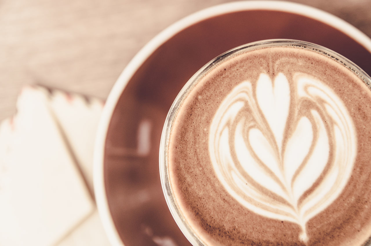 Cappuccino Close-up Coffee - Drink Coffee Cup Day Directly Above Drink Foam Focus On Foreground Food And Drink Freshness Froth Froth Art Frothy Drink Heart Shape High Angle View Indoors  Latte Mocha No People Pattern Refreshment Saucer Shape Table