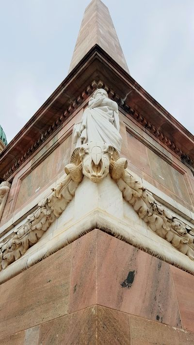 Architecture Built Structure Travel Destinations Statue Building Exterior History Low Angle View Cloud - Sky Sculpture Travel Religion Sky Architectural Column No People Marble Day Outdoors Roof City Potsdam Stone Stone Material Widder Skeleton Gull