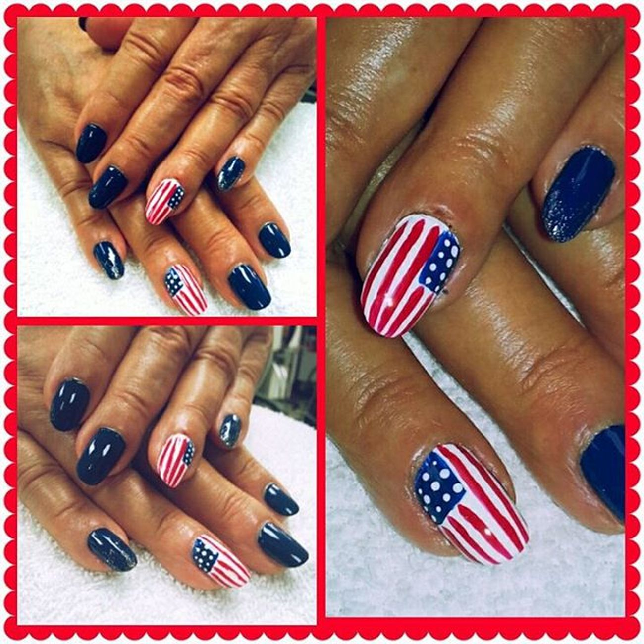 Beautybytamm Fourthofjuly Nails Mainstreethaircompany huntingtonbeachpier