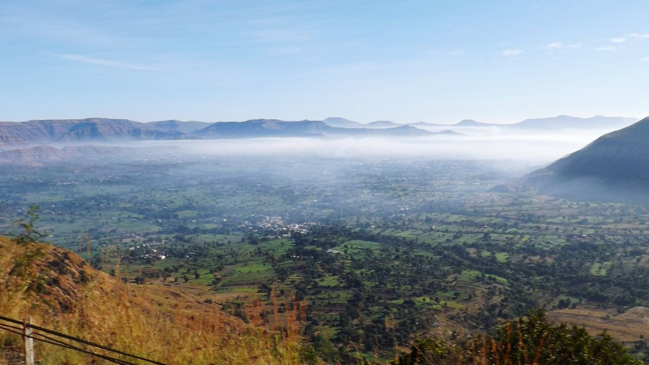 mountain, scenics, landscape, nature, beauty in nature, tranquility, tranquil scene, mountain range, no people, outdoors, day, tree, sky, fog