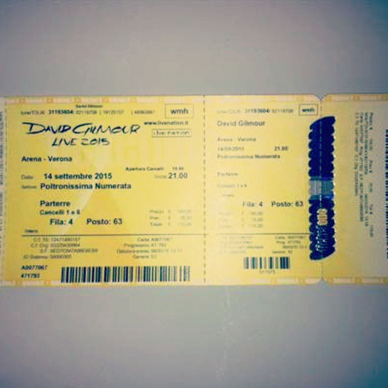 Zio David aspettami !! Arenadiverona David Gilmour Soundofsound Live Concert 2K15 Soundreturn Guitarist Hope Ticketone Like4like L4l Gold Poltronissima Liveatverona