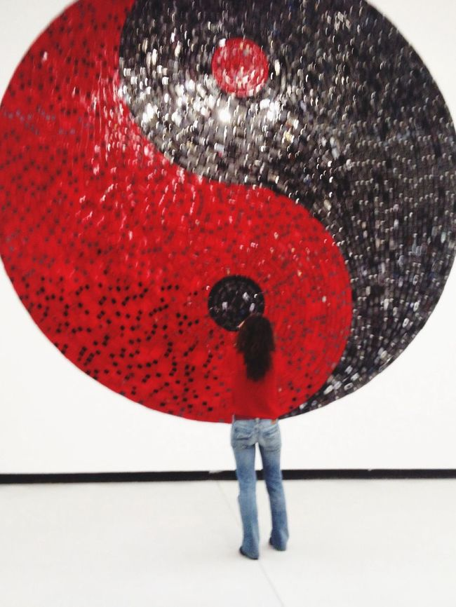 Inside the Art Work Ying Yang Check This Out Red And Black Watching Art Inside The Art melting in a piece of work