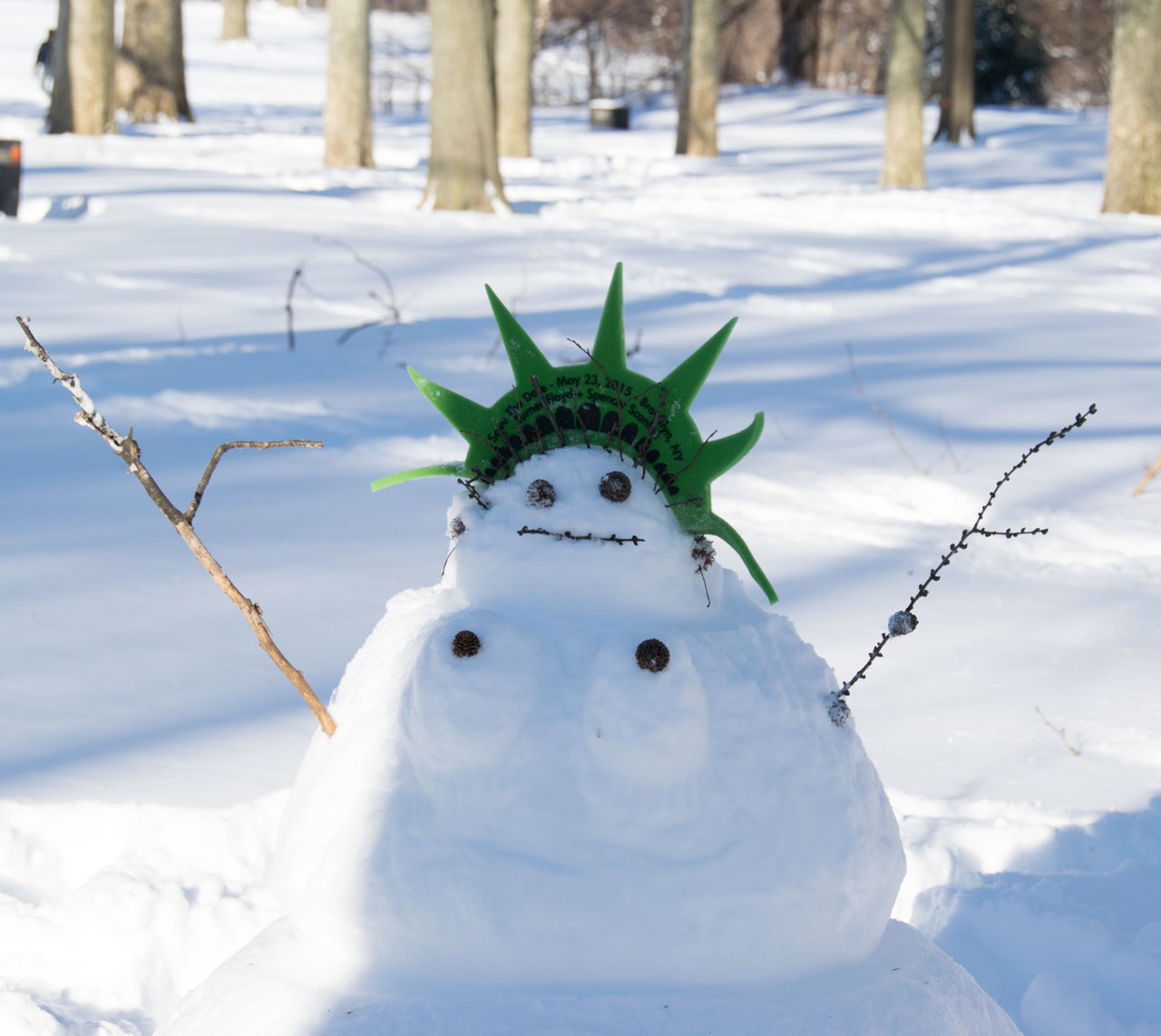 Fun Humor Humorous Lady Liberty Snowman Prospect Park Snow Snow ❄ Snowman Statue Of Liberty Winter