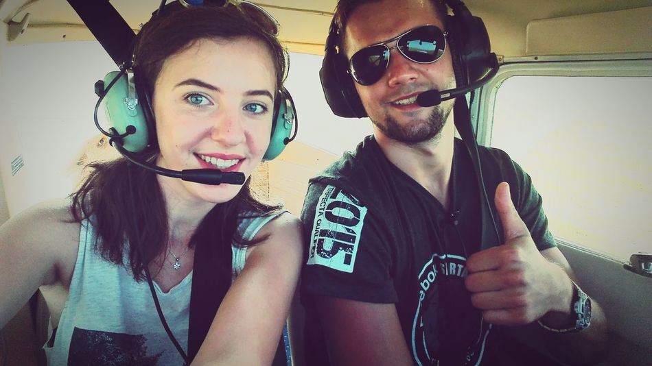 Young Adult Young Women Smiling Front View Happiness Flying Plane Transportation Emotions Positivevibrations Positive Energy  Adventuretime Taking Photos Cheese! Sunnyday Suwalszczyzna Amazing Experience