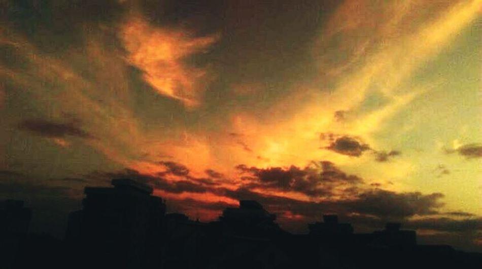 Orange Sky Sunset Incredible Moment Photo Jurnal