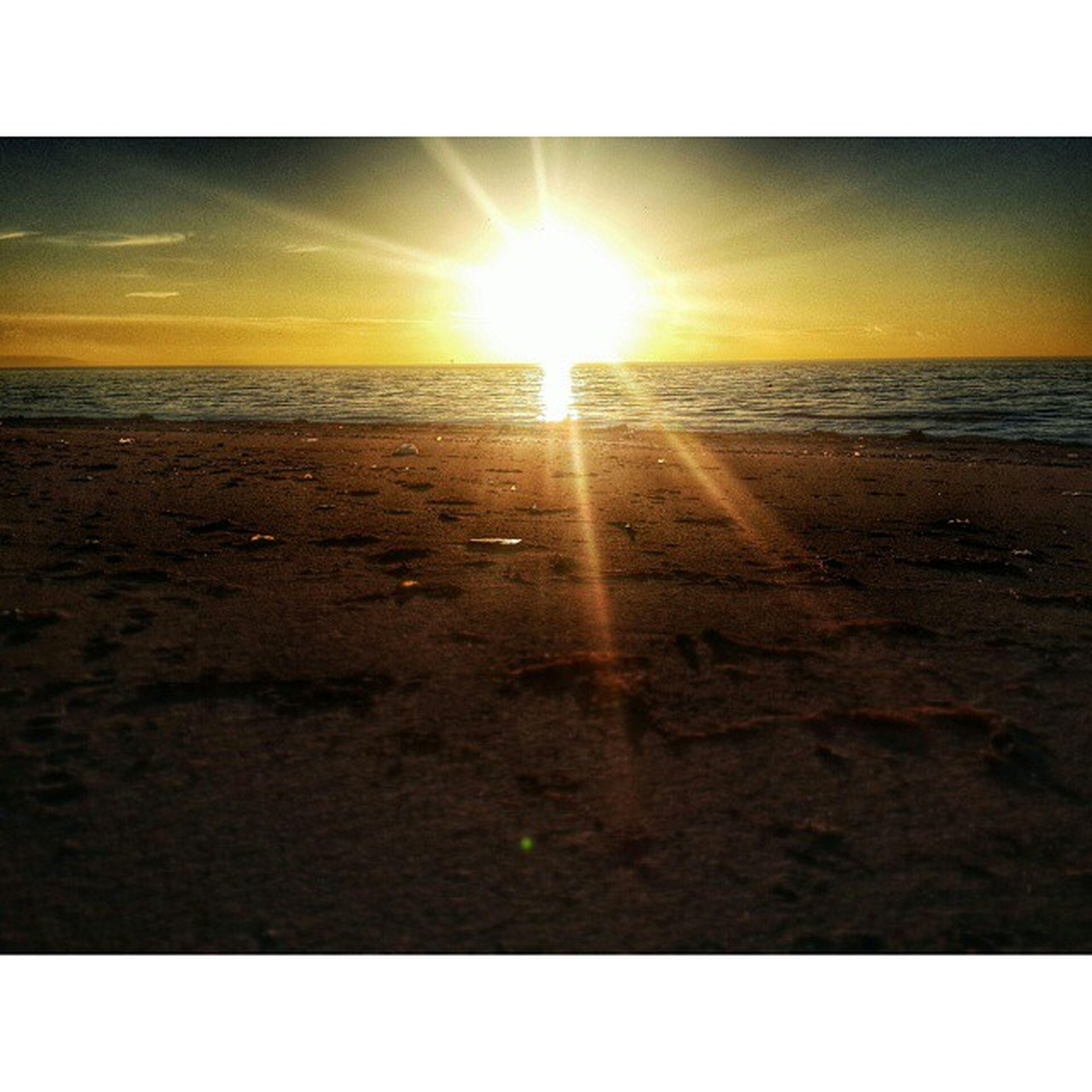 sun, beach, sunset, sea, horizon over water, sand, tranquil scene, shore, transfer print, tranquility, scenics, water, sunlight, beauty in nature, sky, auto post production filter, nature, sunbeam, idyllic, lens flare