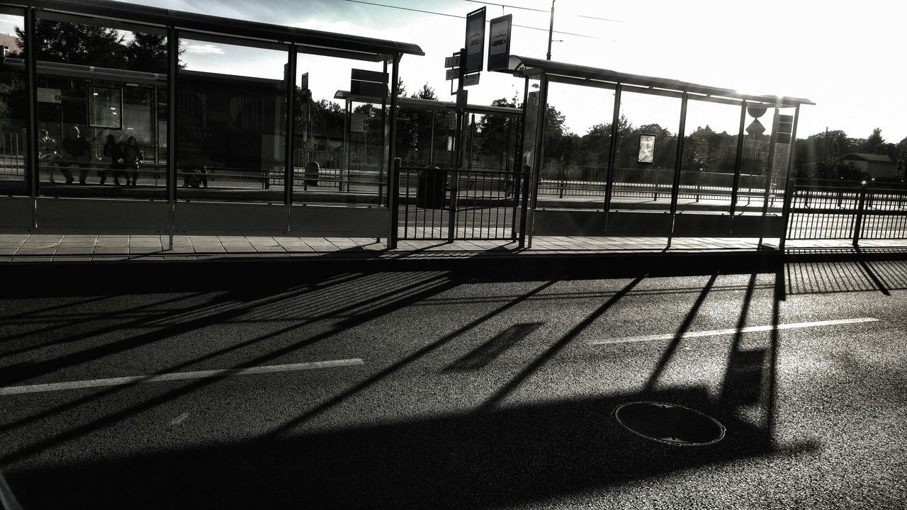 Outdoors Transportation City Built Structure Architecture Building Exterior Day Tram Stop End Of The Day Shadows Light Light And Shadow Przystanek Koniec Dnia światłocień Cien Miasto Arhitektura Struktura Miasta Szczecin Szczecin Poland