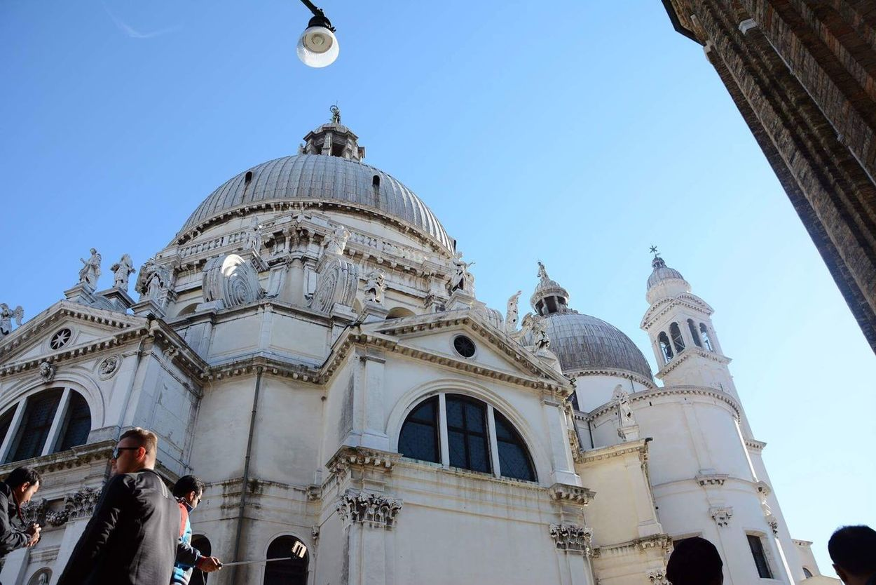 Architecture Building Exterior Built Structure Dome Travel Destinations Religion Travel Clear Sky Place Of Worship Low Angle View City Spirituality Outdoors Day Large Group Of People Sky SantaMariadellaSalute