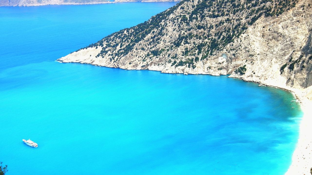 Beach Kefalonia Greece Myrtos Bay Traveling Shades Of BlueLandscape Nature Sea The Big Blue Colors Of The Sea