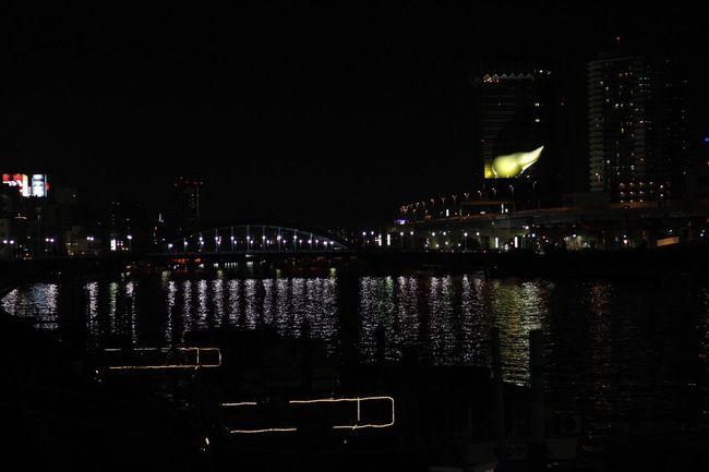 Sumidagawa... River Illuminated Beautiful Place Nightphotography Tokyo,Japan Tokyoskytree Asakusa Asakusa,tokyo,japan Asakusa At Night Camera