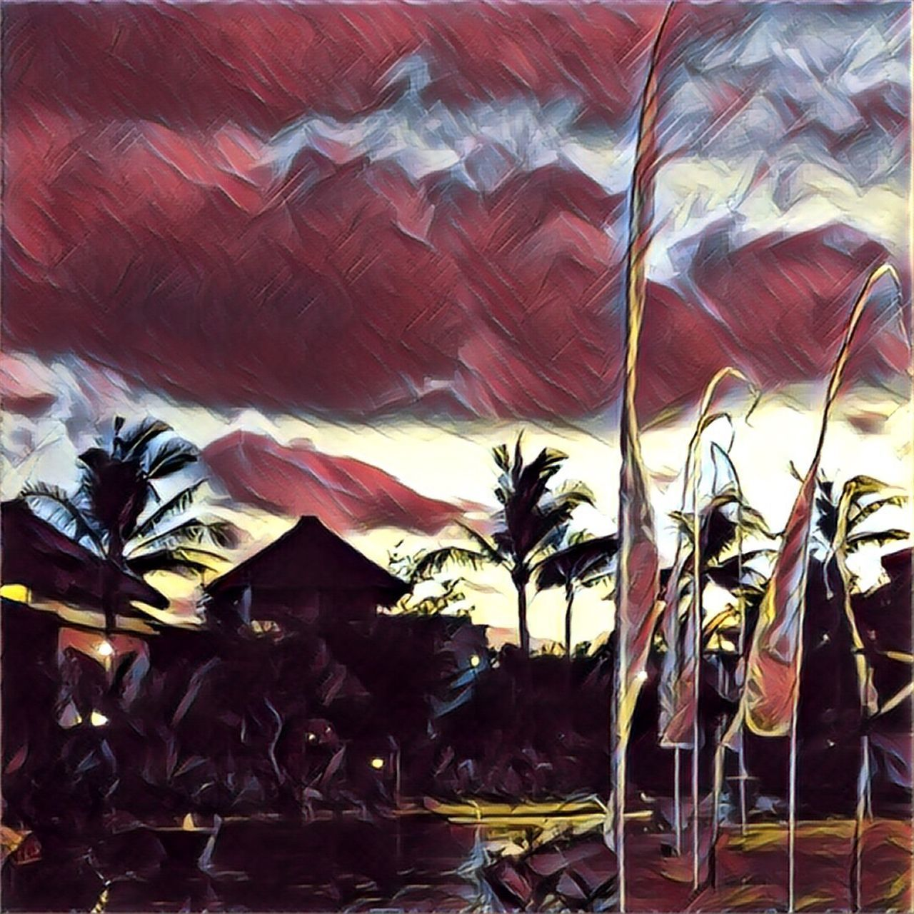 Bali sunset Prisma Filter Bali INDONESIA Samabe Bali Suites & Villas Summer Clouds And Sky Sunset