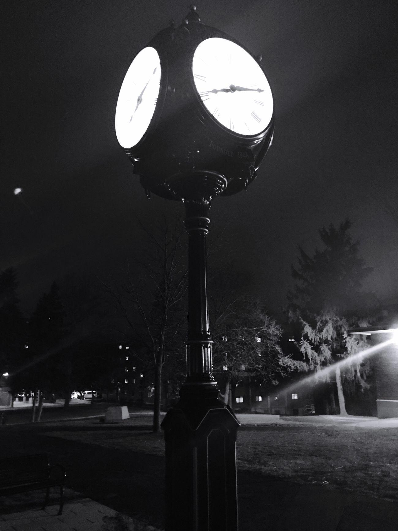 Nightphotography Blackandwhite Syracuse Ny Lemoynedolphins Campus