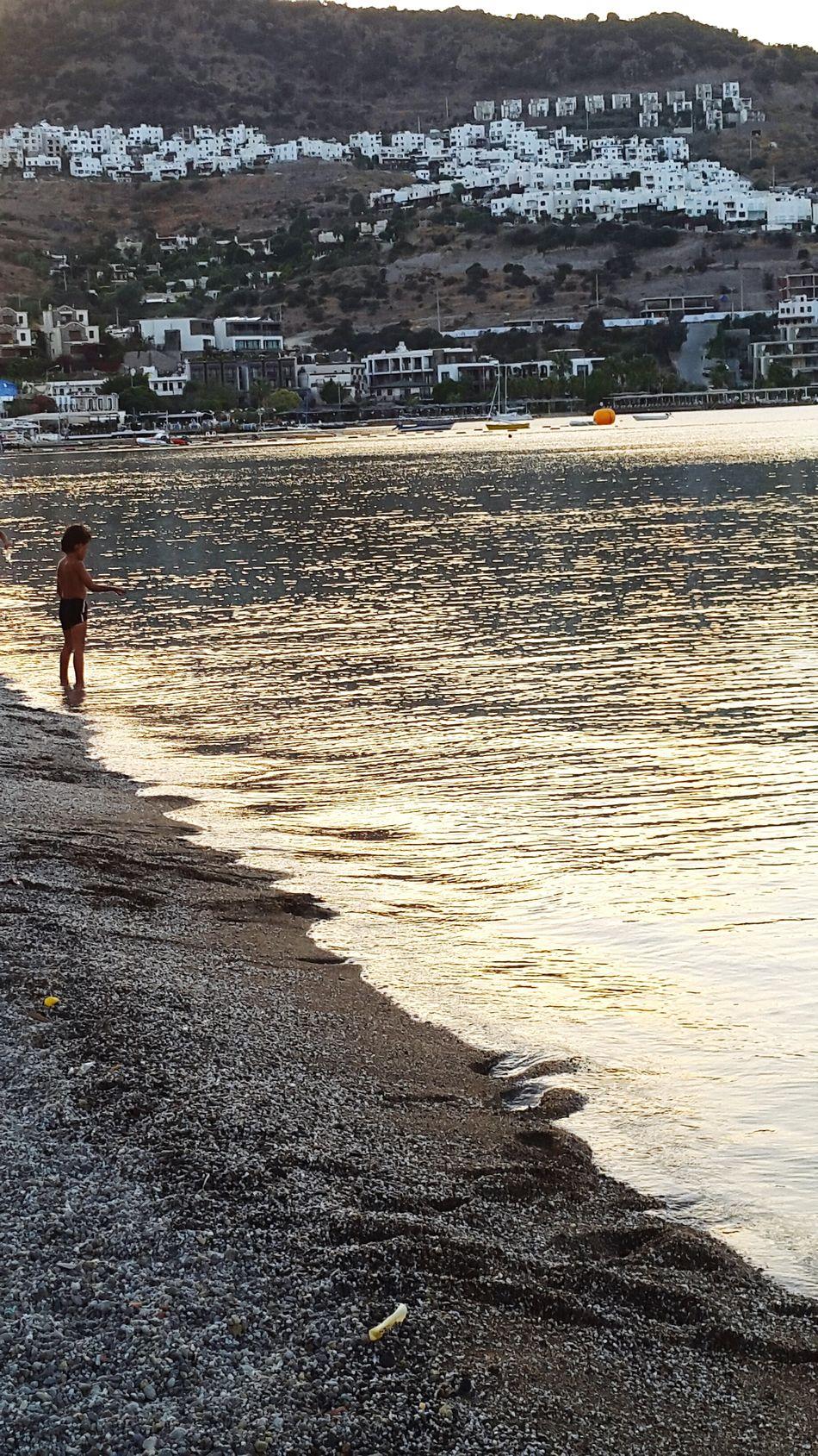 Enjoying Life Taking Photos Relaxing Sea Sunset Child Beach Wiev Bodrum's Houses Bodrum, Turkey First Eyeem Photo