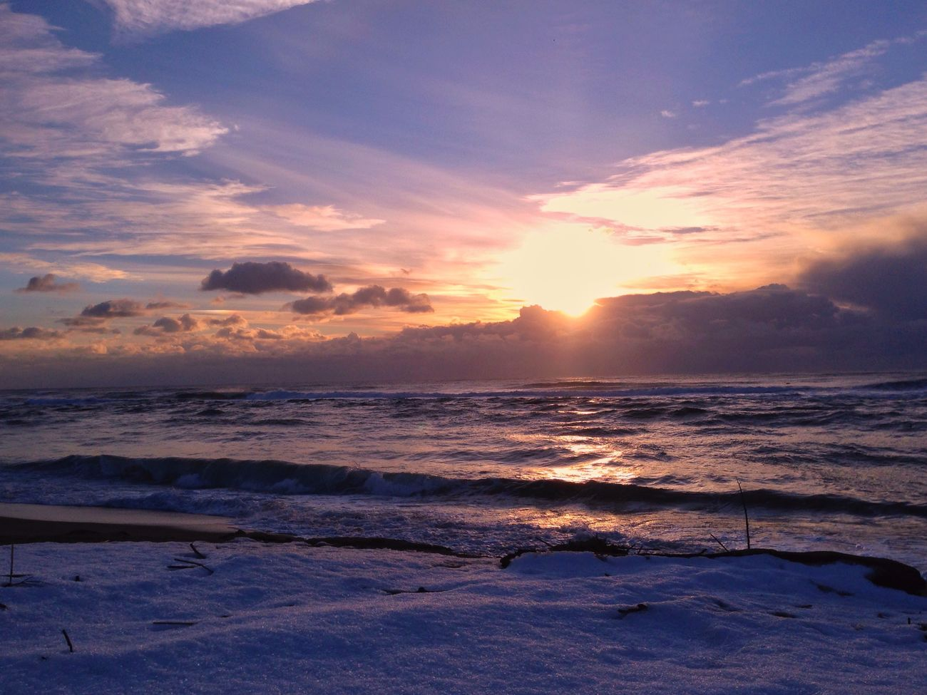 IPhone IPhoneography Mobilephotography Beach Sunset Snow ❄ Surf Photography Beauty In Nature Sea Wave EvningGlow Evning Sky