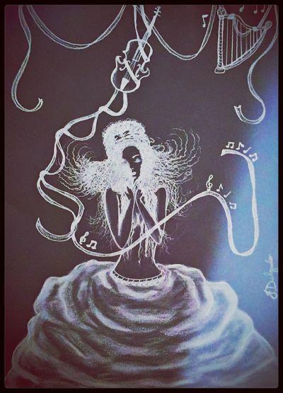 Drawing Music Art Brackandwhite