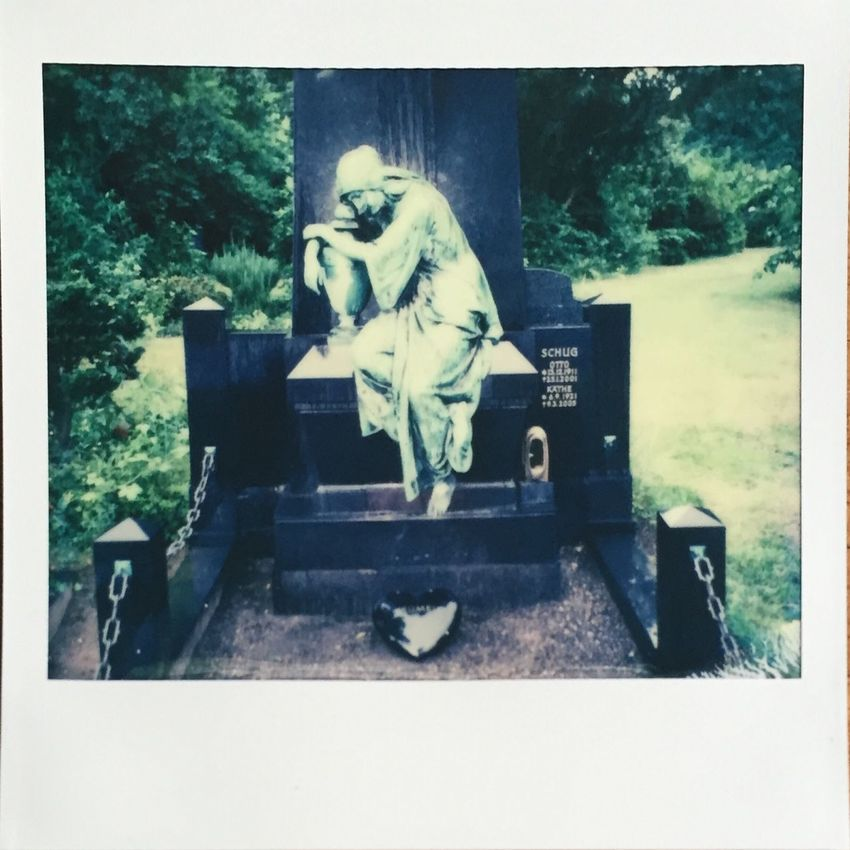 Mourning Polaroid Image Pro Impossible Project Filmphotography Instant Photography Cemetery