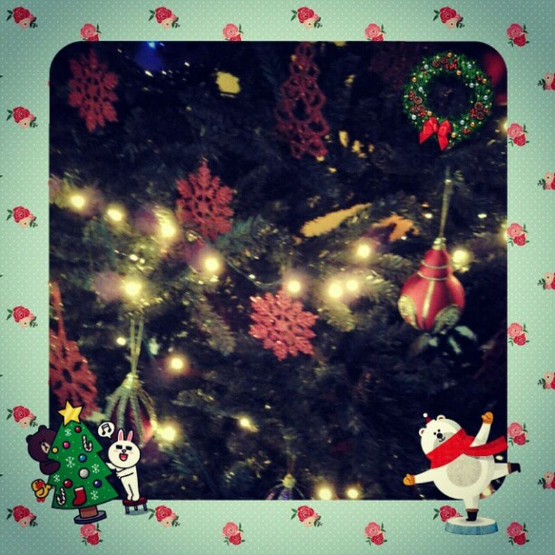 A part of Christmas Decoration December on our Christmastree Christmaslight Snowflake Mistletoe