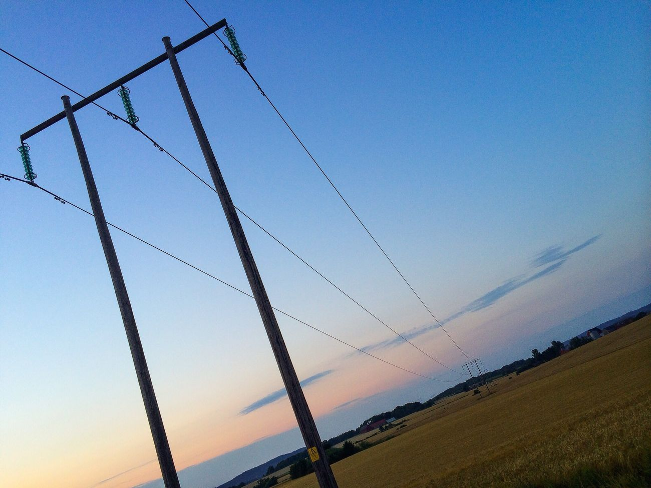 Wired, suspended and connected. IPhoneography Landscape Sky Taking Photos