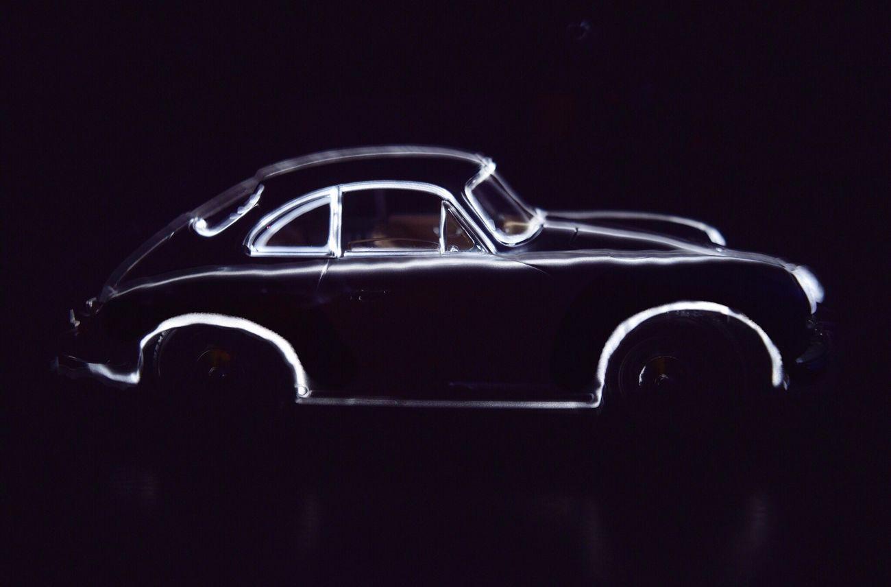 Lightpainting PORSCHE 356 A Silouette