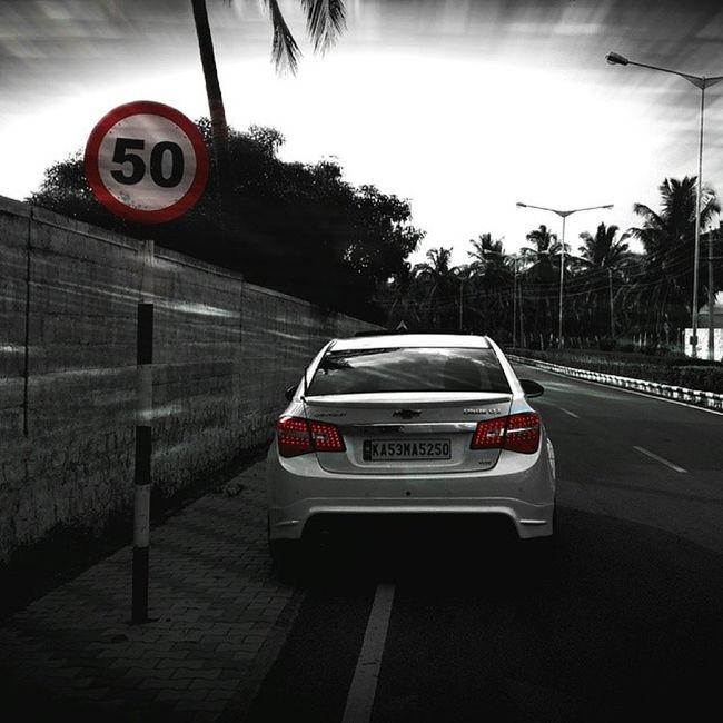 """Lolzzz 50km/hr ?? No way in hell"" Speed Limit 50Km /hrCrazy roadruleslolemptyroad150+cruzenationcruzeworldcruzeteamcruzeinternationalturboboostbowtieperformancespeedbodykit"