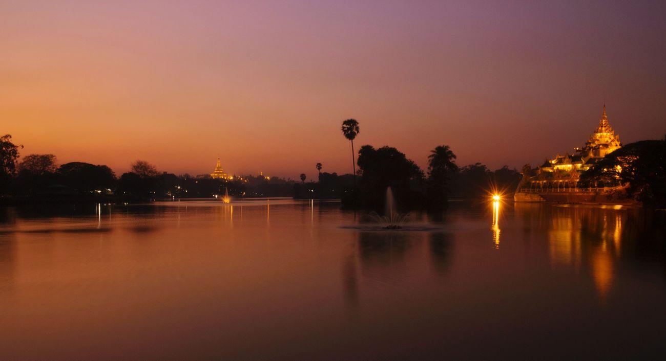 Kandawgyilake Long Exposure Sunset Yangon, Myanmar Canon Eos M2
